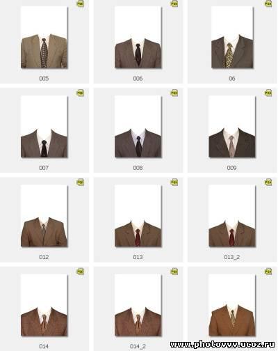 Шаблоны мужские костюмы с галстуком
