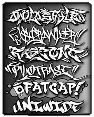 Шрифты граффити 6mb