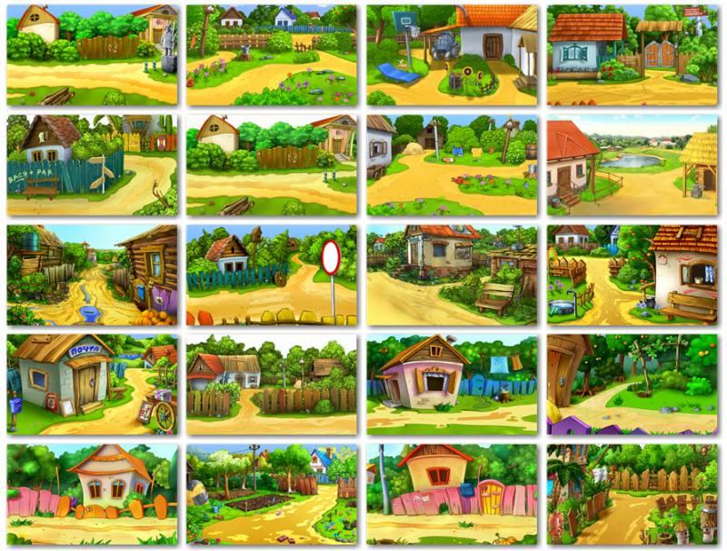Коллекция детских фонов для фотошопа